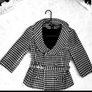 Pre-owened Black and white Arden B jacket